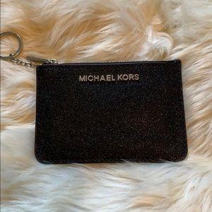 Michael Kors Black Sparkle Wristlet